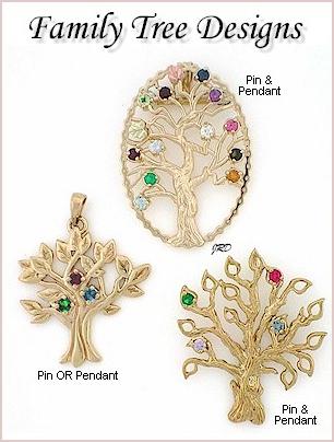 Family tree pendants pins aloadofball Gallery