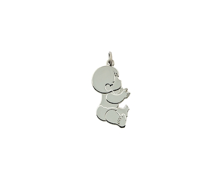 Mothers pendants baby boy baby girl twins small baby boy sterling silver approximately 34 tall aloadofball Gallery