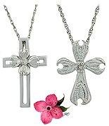 Two versions of the Dogwood Cross celebrate the Christinan faith.