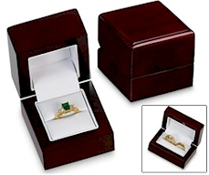 Special boxes to present a ring.