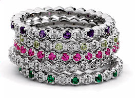 Stackable Mothers Rings Birthstones Amp Tiny Diamonds