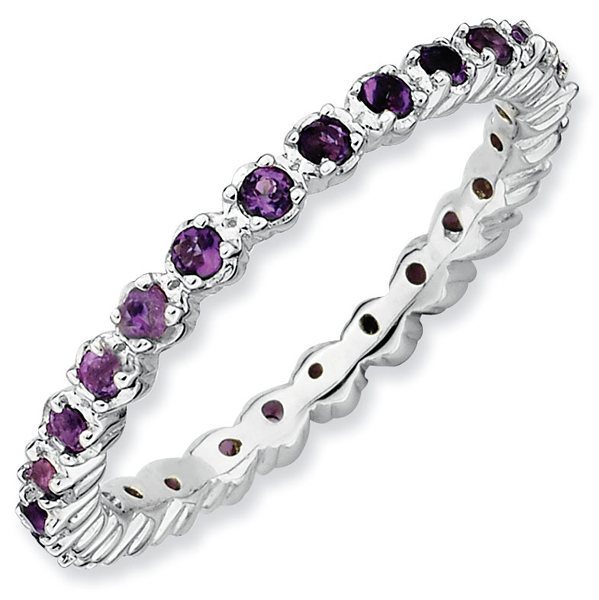 Stackable birthstones eternity mothers ring all birthstones