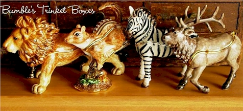 Just a sampling of the hundreds of decorative boxes we offer through our trinket box store.